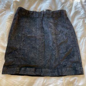 Free People modern femme skirt in velvet